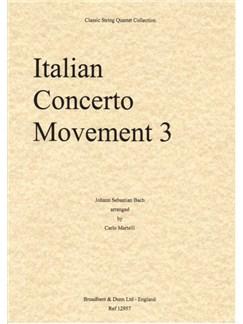 J.S. Bach: Italian Concerto Movement 3 - String Quartet (Score) Books | String Quartet