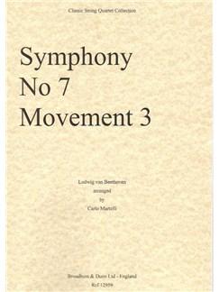 Ludwig Van Beethoven: Symphony No.7, Movement 3 (Score) Books | String Quartet