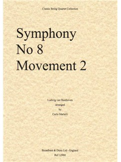 Ludwig Van Beethoven: Symphony No.8 Movement 2 - String Quartet (Parts) Books | String Quartet