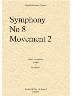 Ludwig Van Beethoven: Symphony No.8 Movement 2 - String Quartet (Score) Books | String Quartet