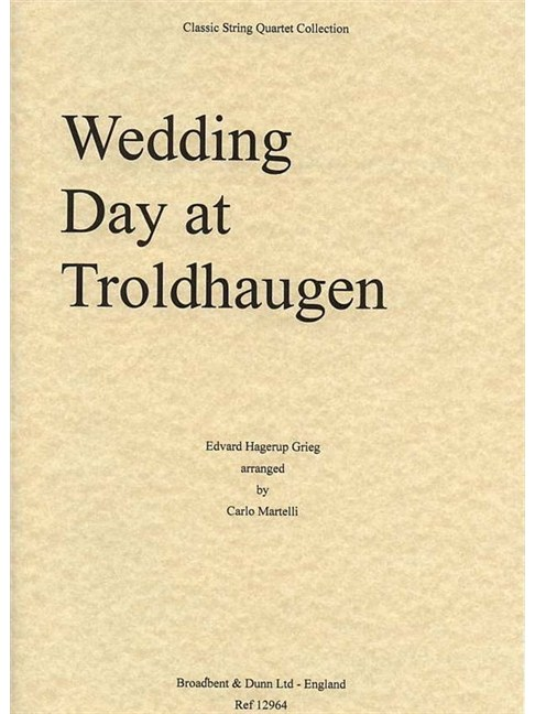 Edvard Grieg: Wedding Day At Troldhaugen - String Quartet (Score) Books | String Quartet