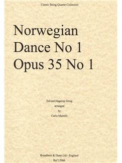 Edvard Grieg: Norwegian Dance No.1 Op.35 (Parts) Books | String Quartet