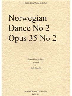 Edvard Grieg: Norwegian Dance No.2 Op.35 (Parts) Books | String Quartet