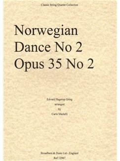 Edvard Grieg: Norwegian Dance No.2 Op.35 (Score) Books | String Quartet