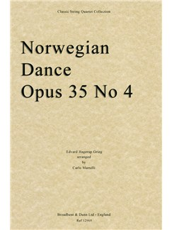 Edvard Grieg: Norwegian Dance Op.35 No.4 (String Quartet Parts) Books | String Quartet