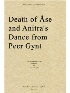 Edvard Grieg: Death of Åse/Anitra's Dance (Peer Gynt) - String Quartet Parts Books | String Quartet