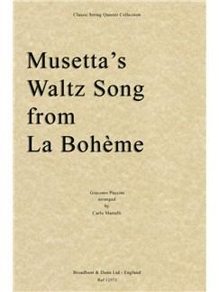Giacomo Puccini: Musetta's Waltz Song from La Bohème - String Quartet (Score) Books | String Quartet