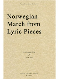 Edvard Grieg: Norwegian March (Lyric Pieces) - String Quartet Score Books | String Quartet