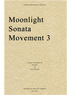 Ludwig Van Beethoven: Moonlight Sonata, Movement 3 (String Quartet Parts) Books | String Quartet