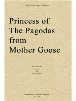 Maurice Ravel: Princess Of The Pagodas (Mother Goose) - String Quartet Score Books | String Quartet