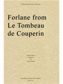 Maurice Ravel: Forlane From Le Tombeau De Couperin (Arr. Carlo Martelli) - Parts Books | String Quartet