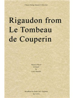 Rigaudon From Le Tombeau De Couperin (Full Score) Books | String Quartet