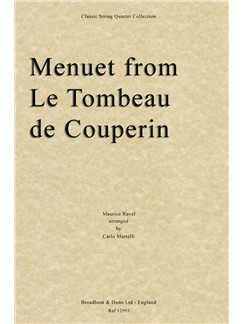 M. Ravel: Menuet From Le Tombeau De Couperin Books | String Quartet
