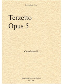 Carlo Martelli: Terzetto For Two Violins And Viola Op.5 Books | Violin (Duet), Viola (Duet)