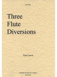 Paul Lewis: Three Flute Diversions Books | Piccolo, Piano Accompaniment