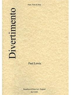 Paul Lewis: Divertimento (Flute, Viola And Harp) Books   Flute, Viola, Harp
