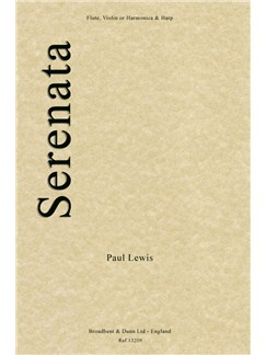 Paul Lewis: Serenata (Flute, Violin or Harmonica and Harp) Books | Flute, Violin, Harmonica, Harp