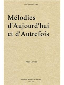 Paul Rupert Lewis Mélodies D'Aujourd 'Hui Et D' Autrefois (Score/Parts) Books | Bassoon, Oboe, Piano Accompaniment
