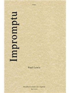 P.R.Lewis: Impromptu Books | Piano