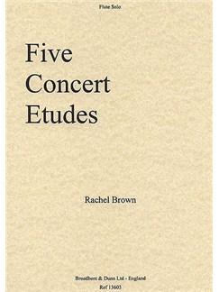 Rachel Brown: Five Concert Etudes Books | Flute