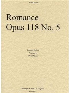 Johannes Brahms: Romance Op.118 No.5 (Wind Quintet - Score/Parts) Books | Wind Quintet