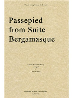Claude Debussy: Passepied (Suite Bergamasque) - String Quartet Score Books | String Quartet