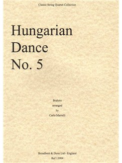 Johannes Brahms: Hungarian Dance No.5 (Score) Books | String Quartet