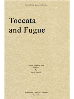 J.S. Bach: Toccata and Fugue (Parts) Books | String Quartet