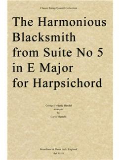 G.F. Handel: The Harmonious Blacksmith (Suite No.5 in E For Harpsichord) - String Quartet Parts Books | String Quartet