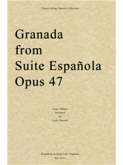 Isaac Albéniz: Granada (Suite Espanola Op.47) - String Quartet Parts Books | String Quartet