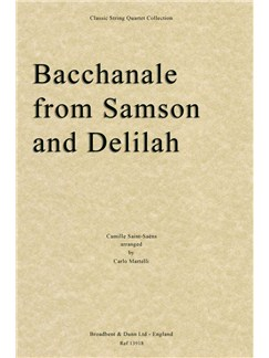 Camille Saint-Saëns: Bacchanale From Samson And Delilah (Parts) Books | String Quartet
