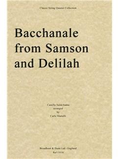 Camille Saint-Saëns: Bacchanale From Samson And Delilah (Score) Books | String Quartet