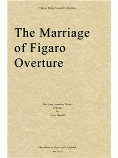The Marriage Of Figaro Overture (Parts) Books | String Quartet