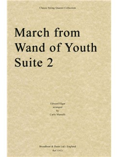 E. Elgar: March From Wand Of Youth Suite Two Books | String Quartet