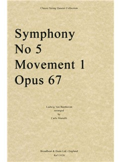 L.V. Beethoven: Symphony No. 5 Movement 1 Books | String Quartet