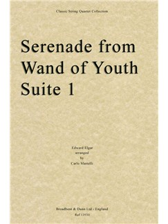 Edward Elgar: Serenade From Wand Of Youth Suite No. 1 (Arr. Carlo Martelli) - Parts Books | String Quartet