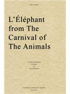 Camille Saint-Saëns - L'Éléphant from The Carnival of the Animals (Brass Quintet) Books | Brass Quintet