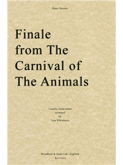 Camille Saint-Saëns - Finale from The Carnival of the Animals (Brass Quintet) Books | Brass Quintet