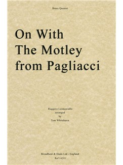 Ruggero Leoncavallo: On With The Motley from Pagliacci (Brass Quintet) Books | Brass Quintet