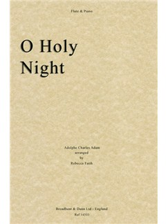 Adolphe Adam: O Holy Night (Flute/Piano) Books | Flute, Piano Accompaniment