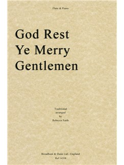 God Rest Ye Merry Gentlemen (Flute/Piano) Books | Flute, Piano Accompaniment