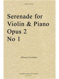 Alfonso Cavallaro: Serenade For Violin And Piano Op. Posth. 2 No. 1 Books | Violin, Piano Accompaniment