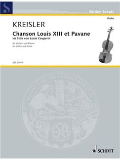 Fritz Kreisler: Chanson Louis XIII. Et Pavane Books | Violin, Piano
