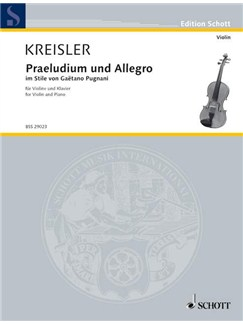 Kreisler: Praeludium and Allegro Books | Violin, Piano