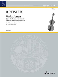 Fritz Kreisler: Variations On A Theme By Corelli For Violin Books | Violin, Piano Accompaniment