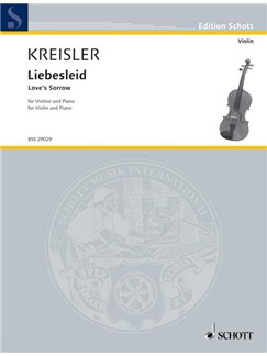 Fritz Kreisler: Liebesleid Books | Violin, Piano