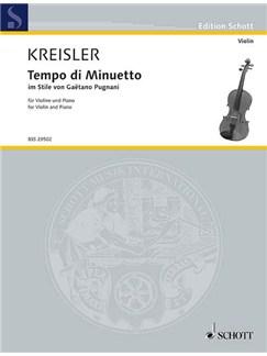 Fritz Kreisler: Tempo Di Minuetto Books | Violin, Piano