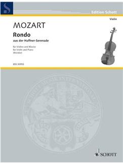Wolfgang Amadeus Mozart: Rondo KV 250 Books | Violin, Piano