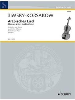 Nikolaj Rimskij-Korsakow: Arabisches Lied Books | Violin, Piano