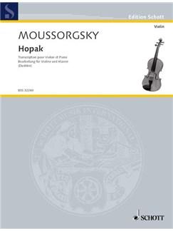 Modest Mussorgskij: Hopak Books | Violin, Piano